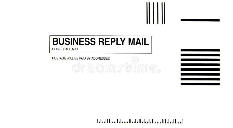 Envelope da resposta de negócio imagem de stock royalty free