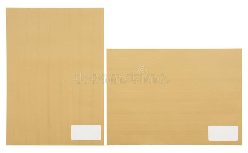 Envelope de Brown com espaço para o destino do endereço imagem de stock royalty free