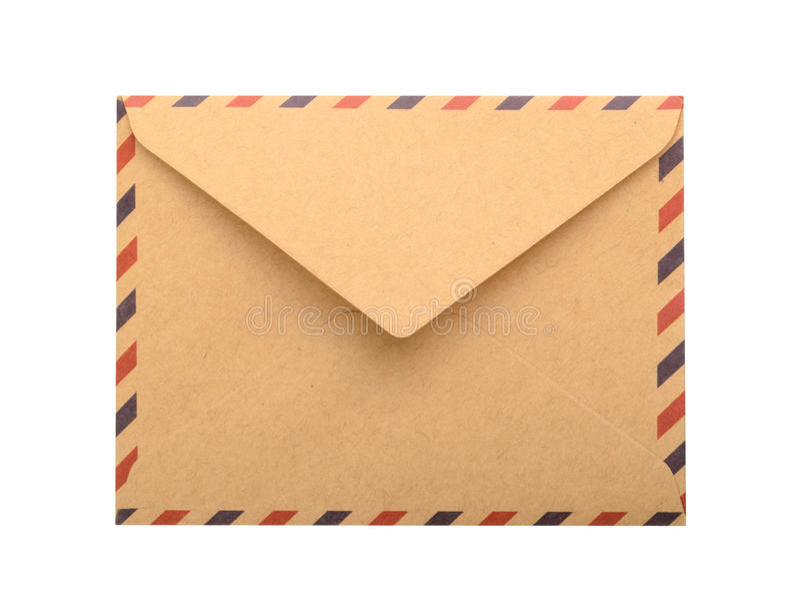 Envelope de Brown isolado Fim acima fotos de stock royalty free