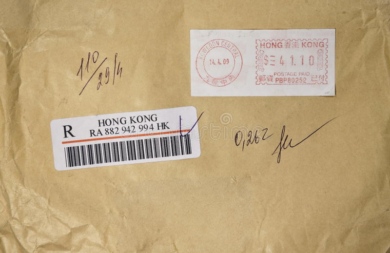 Envelope de Hong Kong foto de stock royalty free