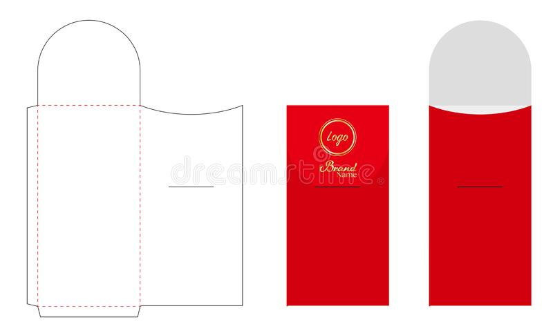 Envelope die cut mock up template vector vector illustration