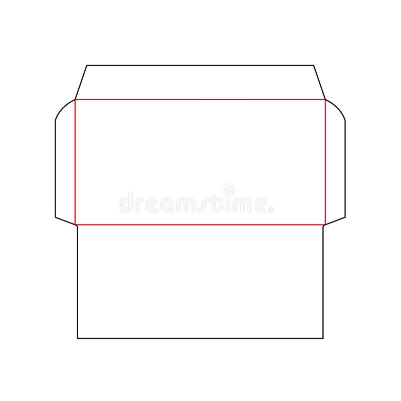 Envelope Dl Size Template Stock Vector Illustration Of Layout