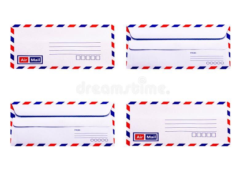 Envelope do branco e do vintage imagem de stock royalty free