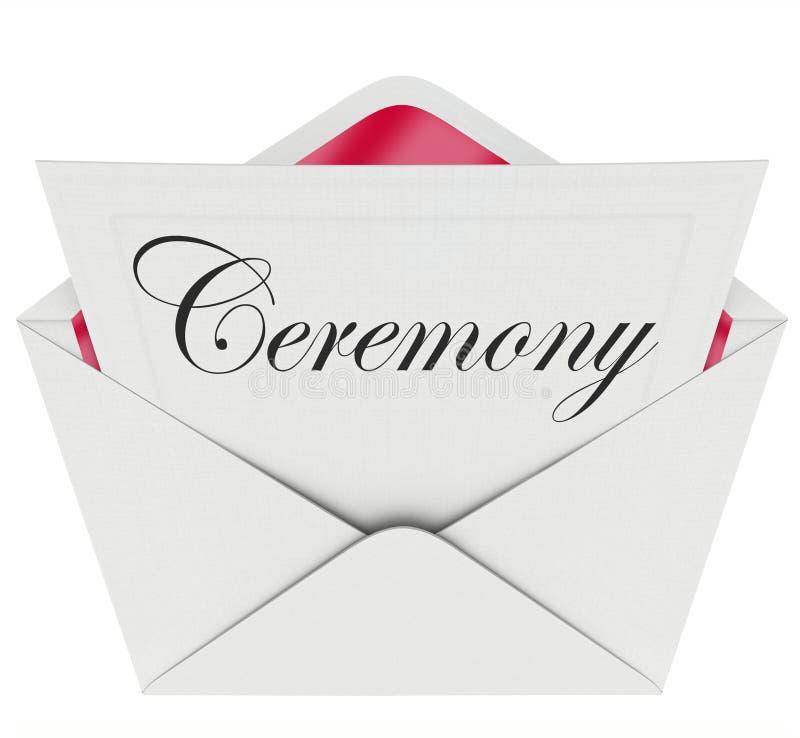 Envelope do convite do evento da comemoração do partido da cerimônia ilustração stock