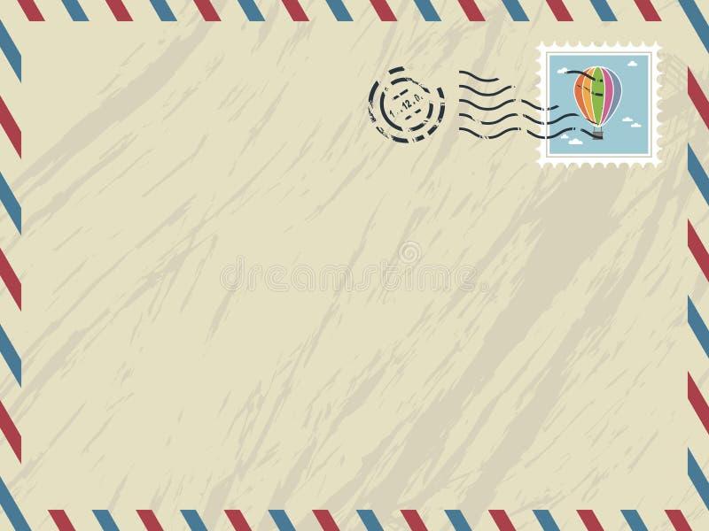 Envelope do correio aéreo ilustração do vetor