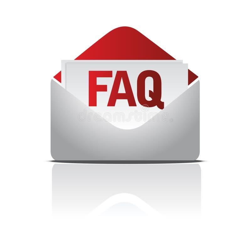 Envelope do FAQ ilustração do vetor