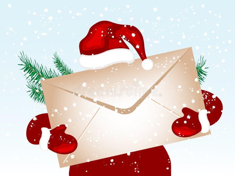 Envelope do Natal ilustração stock