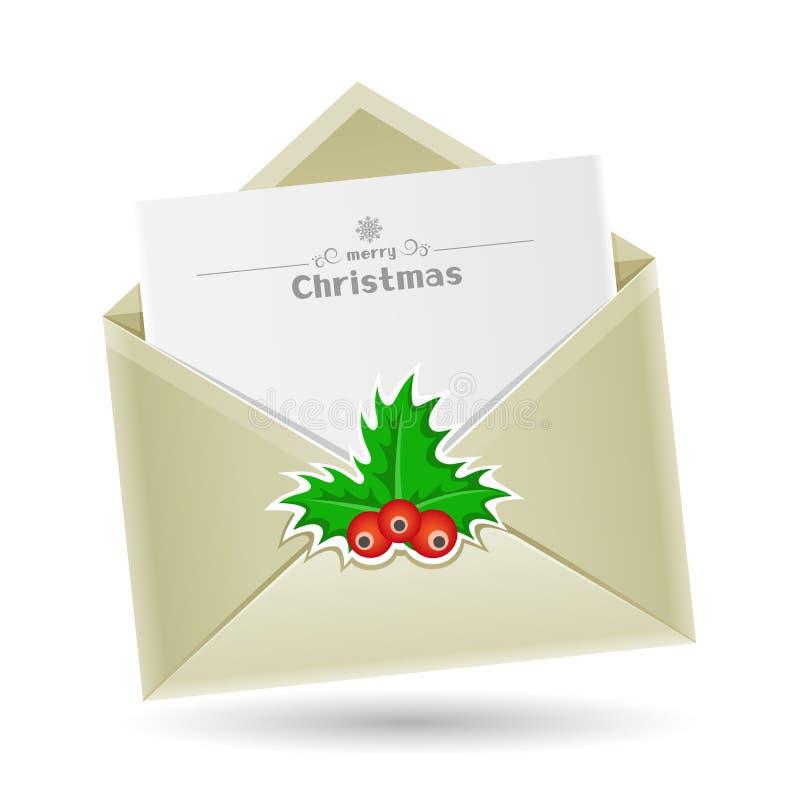 Envelope do Natal ilustração royalty free