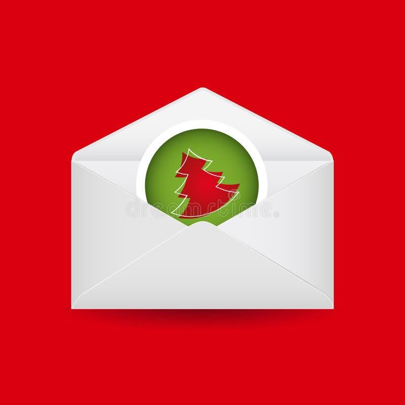 Envelope do Natal ilustração do vetor