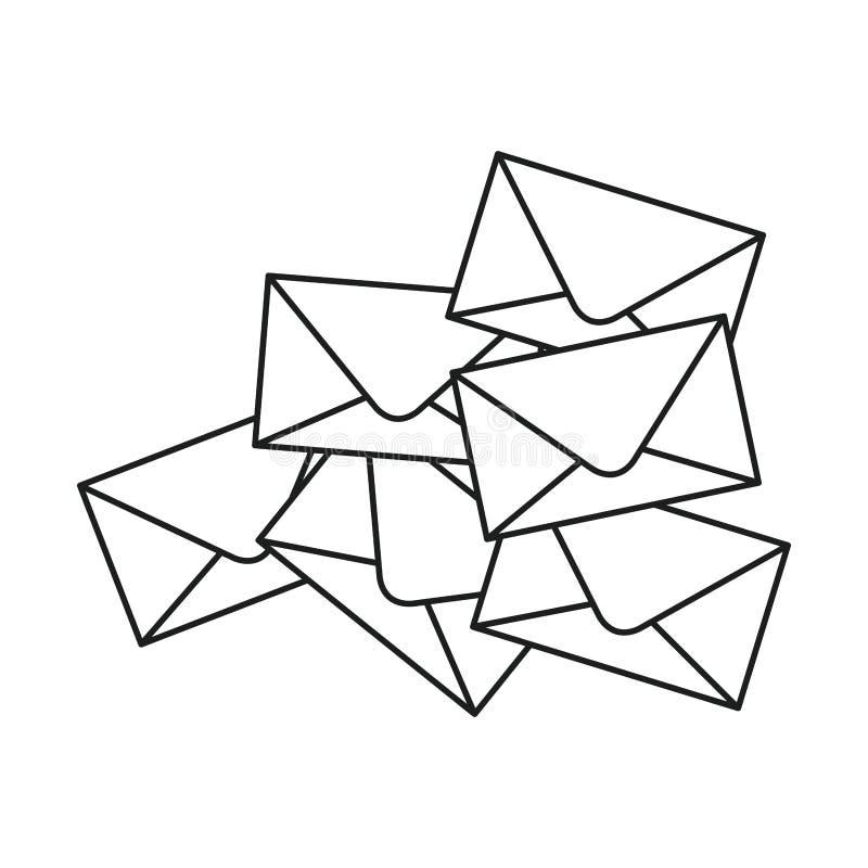 Envelope do projeto de uma comunicação ilustração royalty free