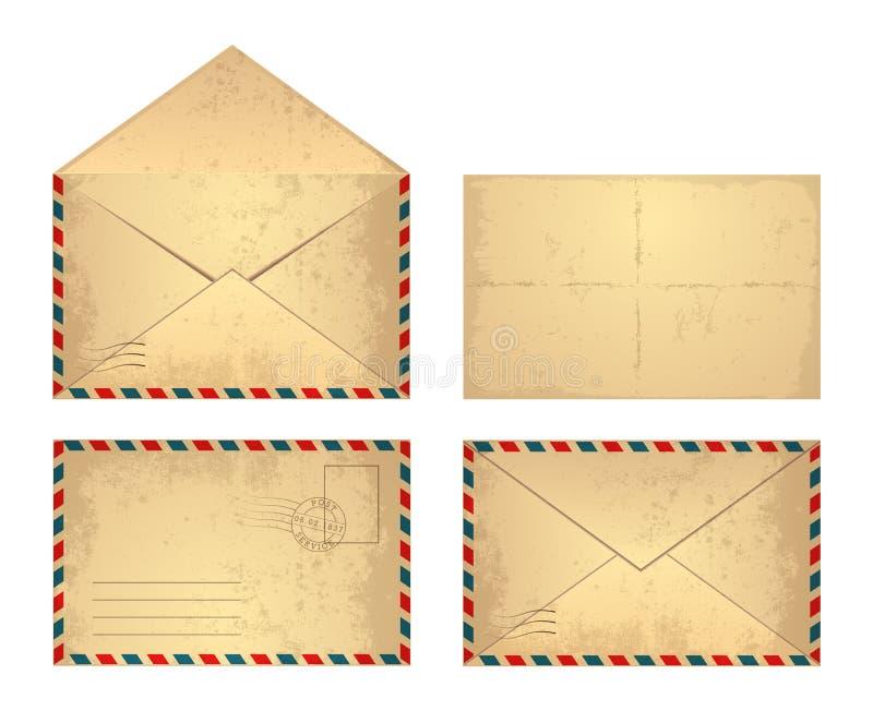 Envelope do vintage ilustração stock