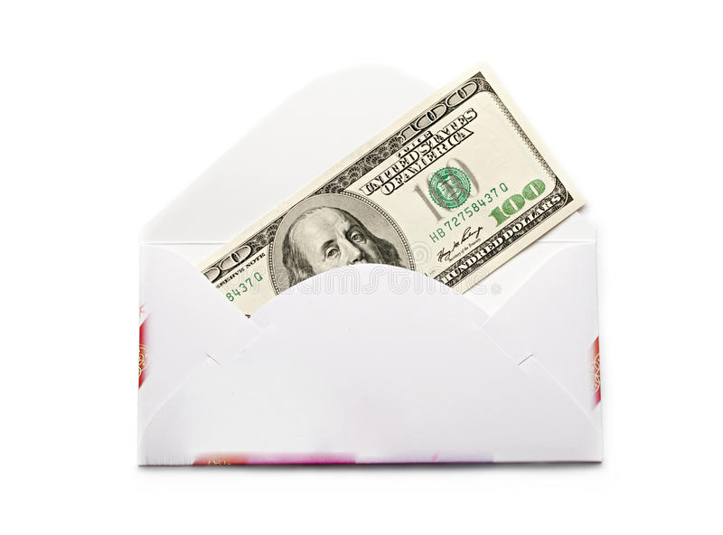 Envelope With Dollars Stock Photography