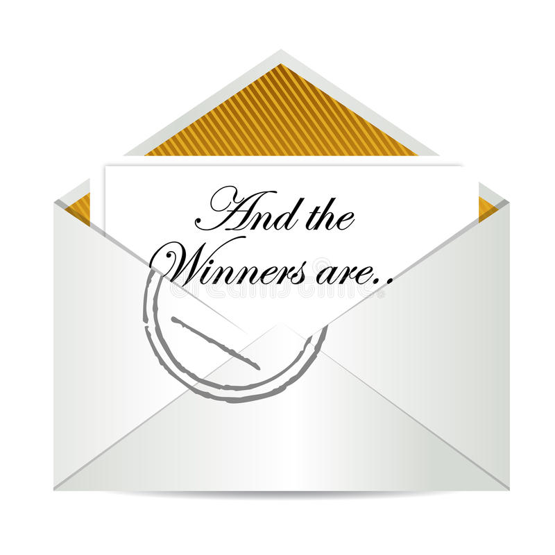 Envelope dos vencedores da concessão ilustração stock
