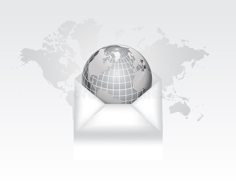 Envelope e globo ilustração do vetor