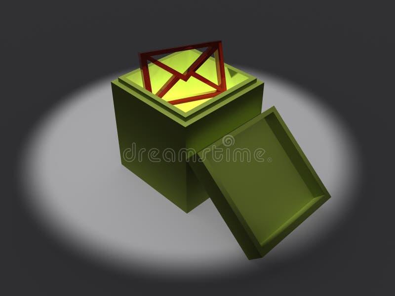 Envelope em uma caixa ilustração royalty free