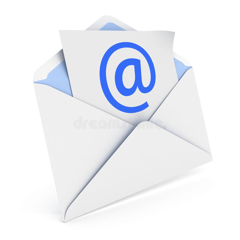 Download Envelope with email stock illustration. Image of contact - 31974873