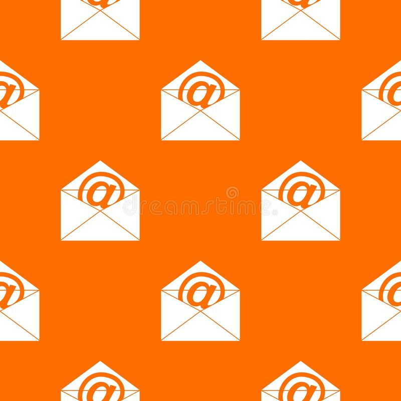 Envelope with email sign pattern seamless stock illustration