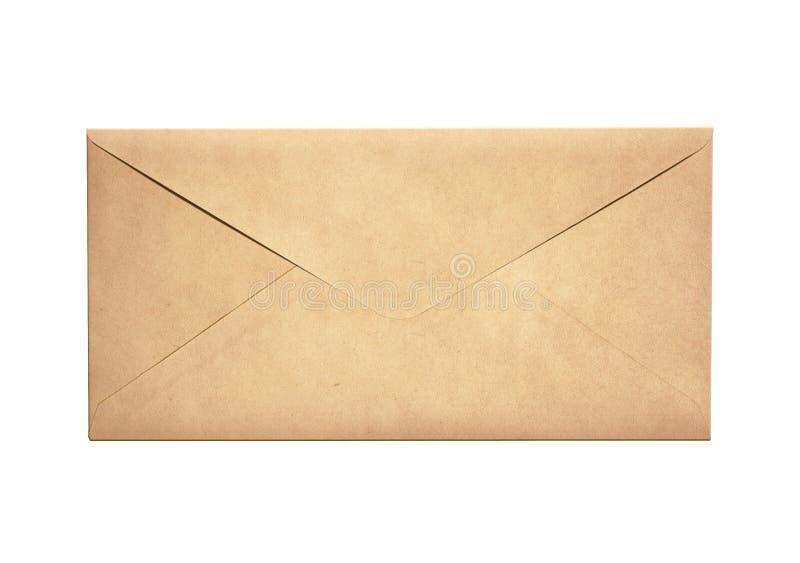 Envelope estreito velho da letra isolado fotografia de stock