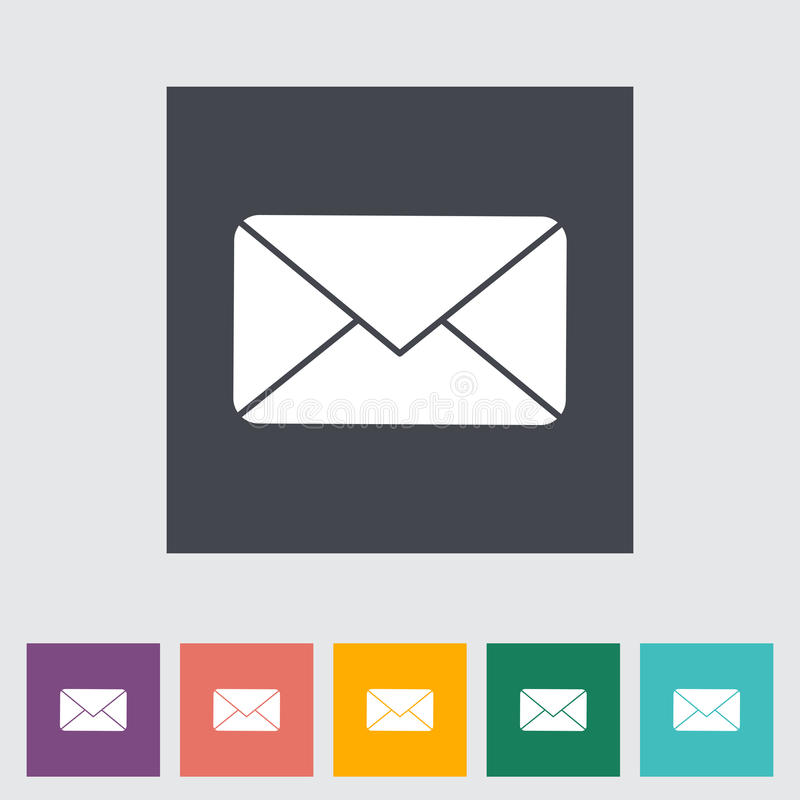Download Envelope flat icon. stock vector. Image of inbox, button - 34693052