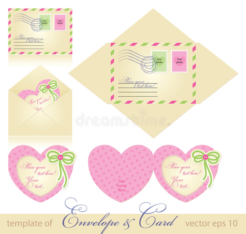 Envelope and greeting card vector illustration