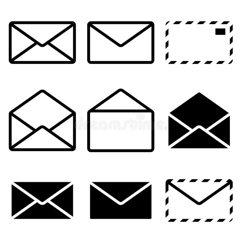 Envelope Icon royalty free illustration