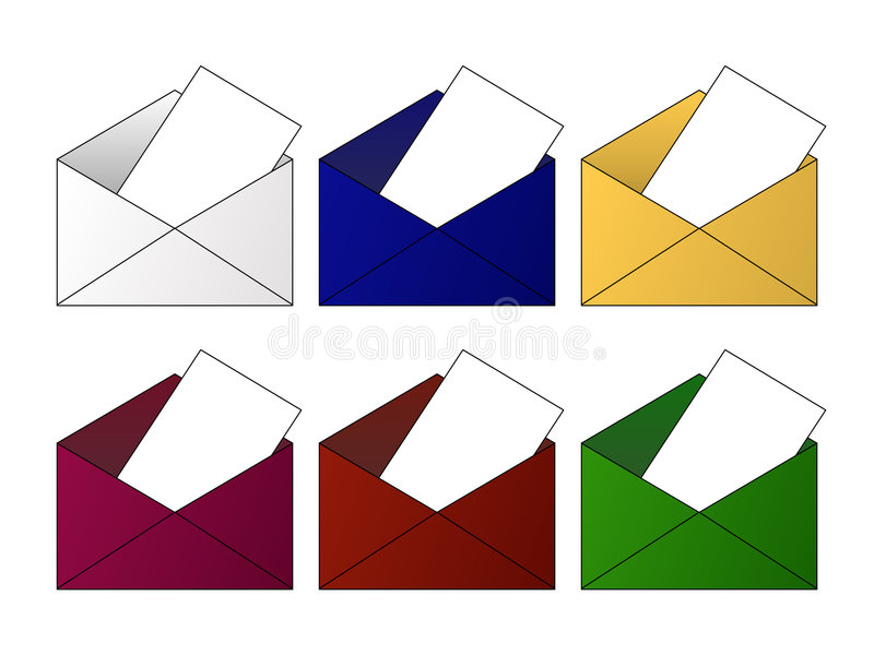 Download Envelope Icons stock vector. Image of letter, spam, outlook - 6200657