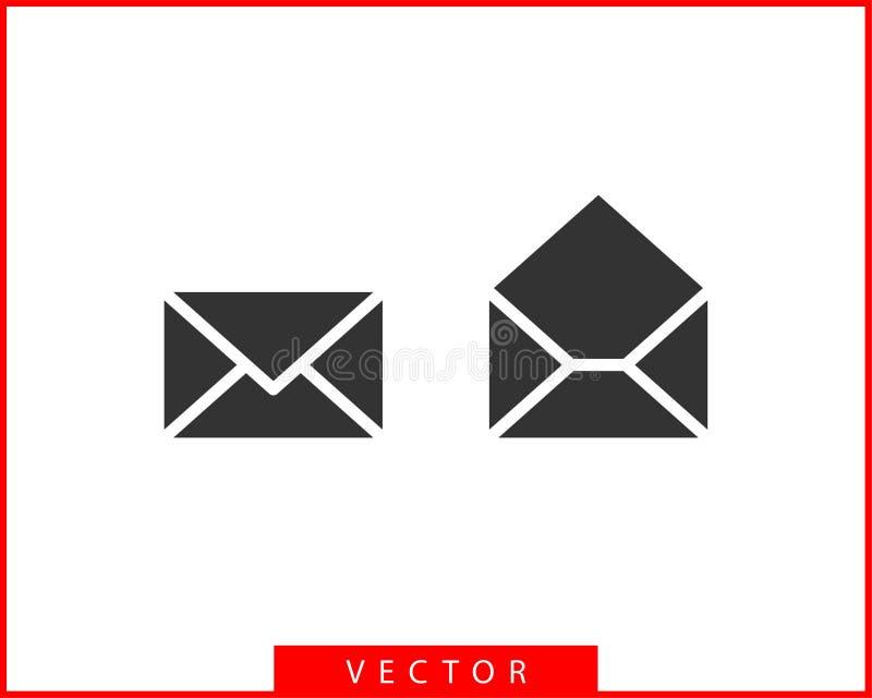 Envelope icons letter. Envelop icon vector template. Mail symbol element. Mailing label for web or print design.  royalty free illustration