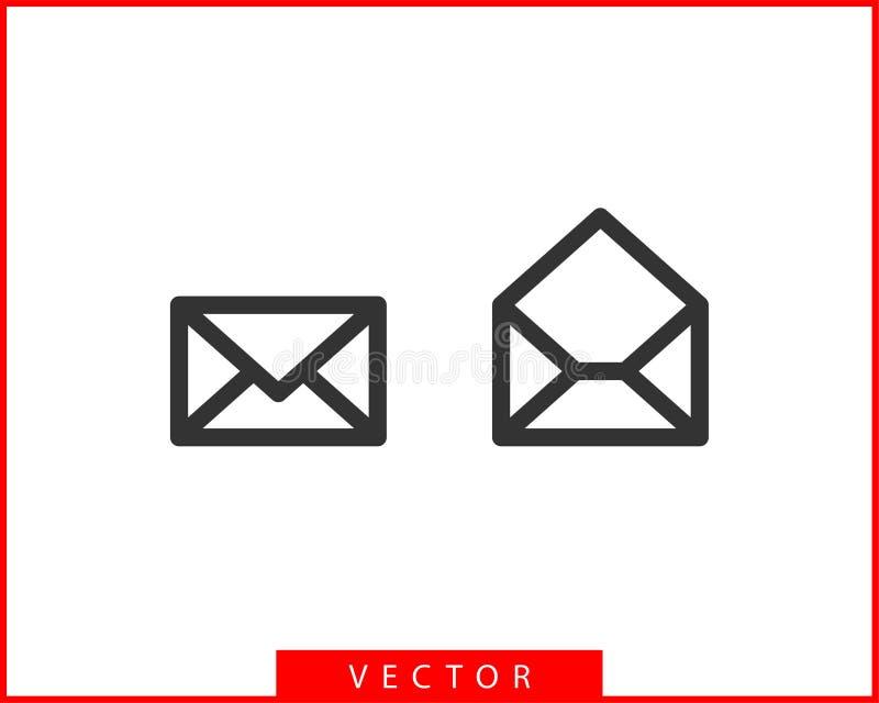 Envelope icons letter. Envelop icon vector template. Mail symbol element. Mailing label for web or print design.  stock illustration