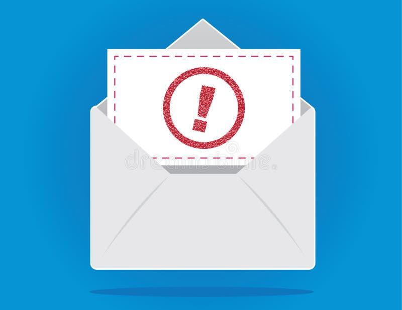 Envelope importante ilustração royalty free