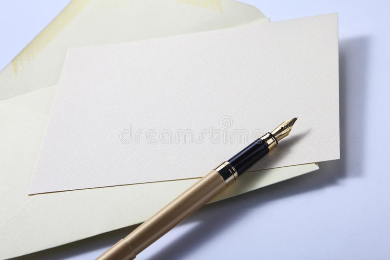 Envelope Letter And Pen Stock Photography