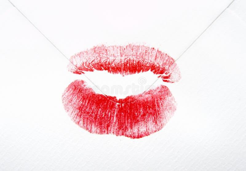 Envelope lips 1 royalty free stock photography