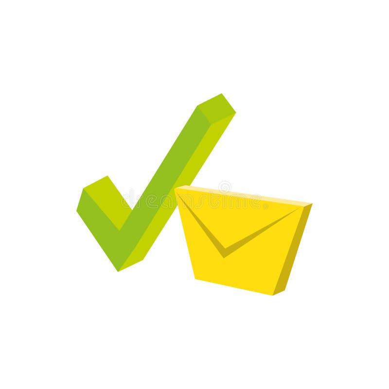 Envelope mail with check sign. Vector illustration design stock illustration