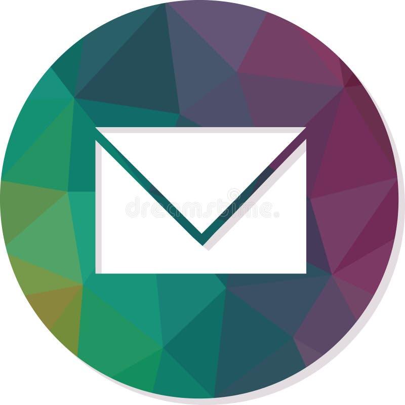 Envelope-mail contact om de vector die van de Webknoop wordt geïsoleerd stock illustratie