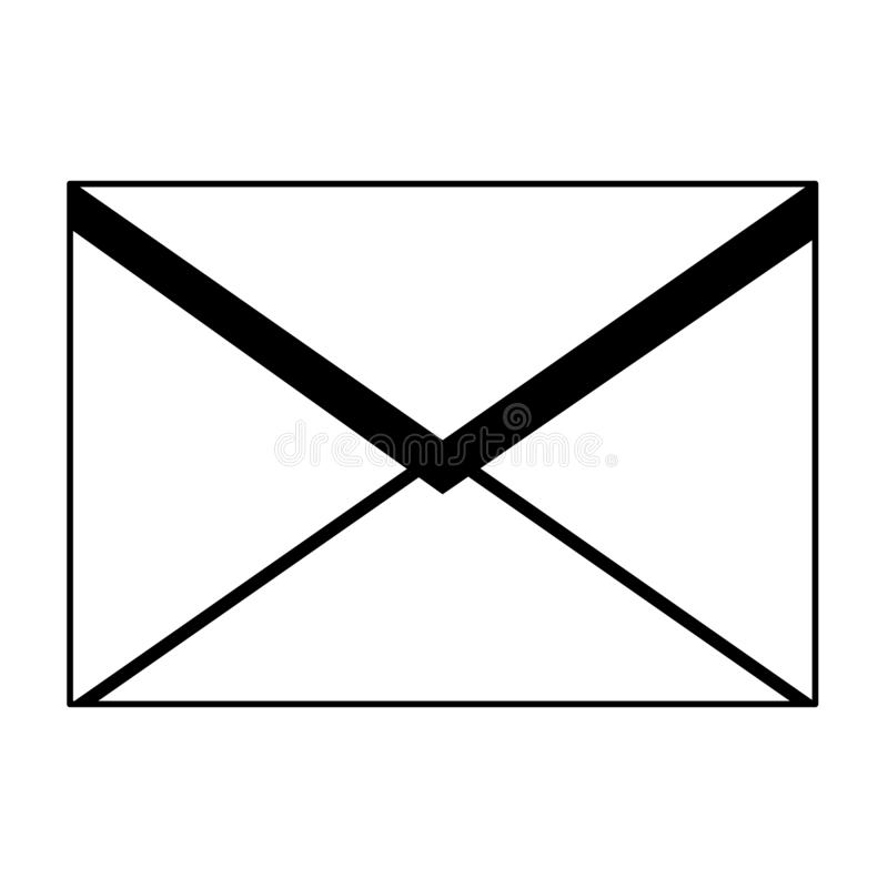 Envelope mail icon. Drawing in white background royalty free illustration