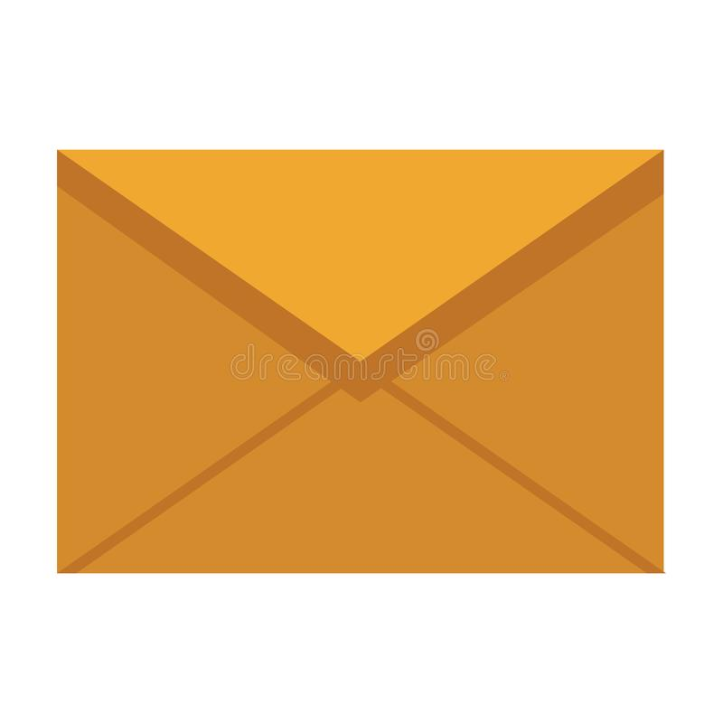 Envelope mail icon. Colorful in white background stock illustration