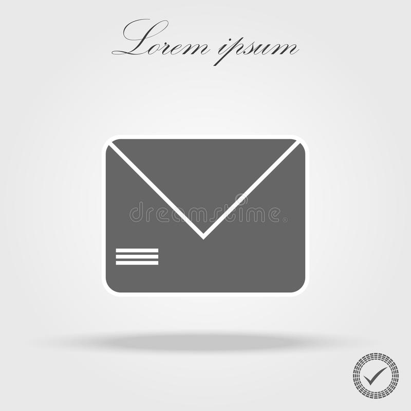 Envelope Mail icon, vector illustration. Flat design style royalty free illustration