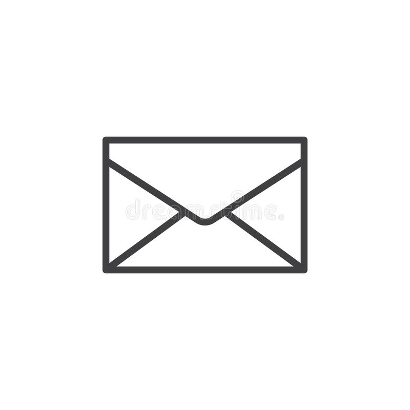 Envelope, mail, message line icon, outline vector sign, linear style pictogram isolated on white. Symbol, logo illustration. Editable stroke. Pixel perfect royalty free illustration