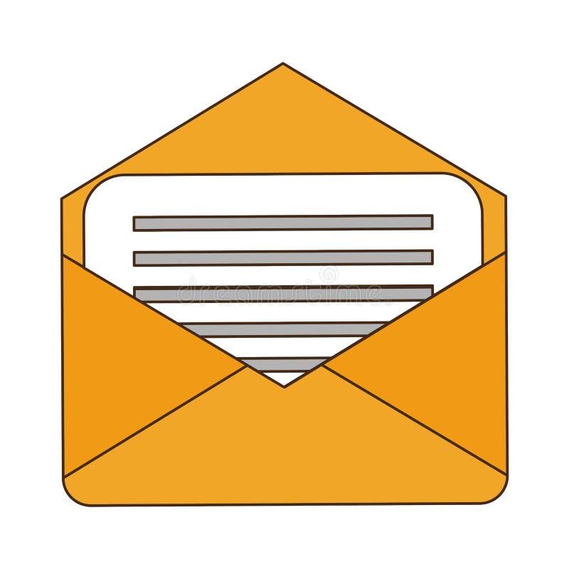Envelope mail symbol vector illustration