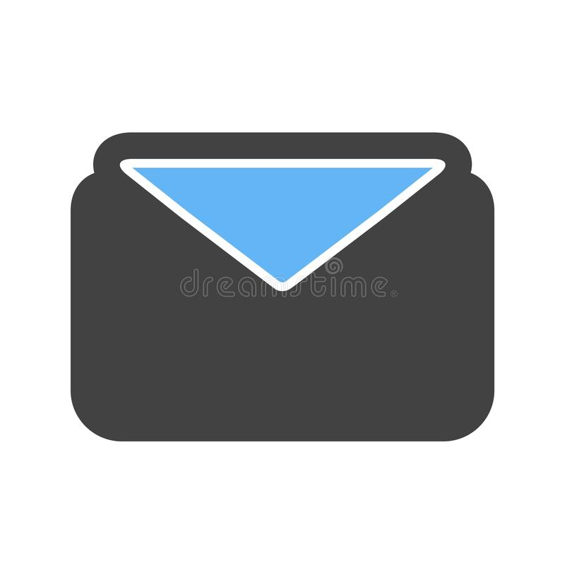 Envelope, message, address. Icon image. Can also be used for email, communication and messaging. Suitable for mobile apps, web apps and print media royalty free illustration