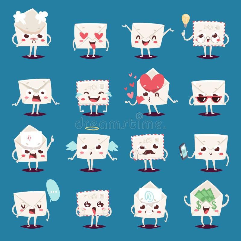 Free Envelope Message Emojji Character Emotions Face Vector Illustration. Stock Images - 93960154