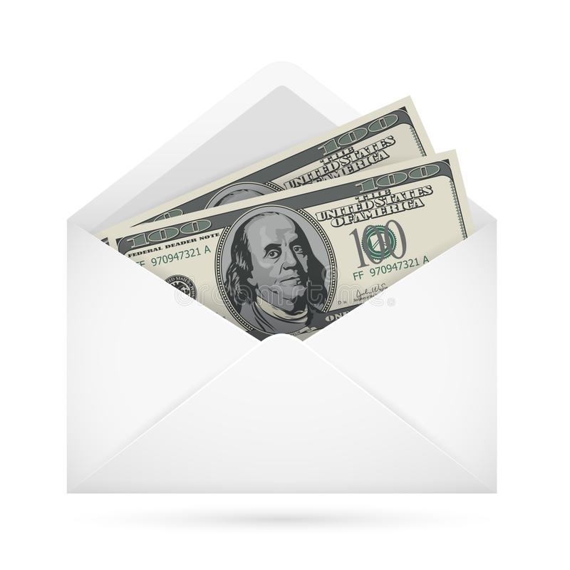 Download Envelope with money stock vector. Image of notes, money - 26663100