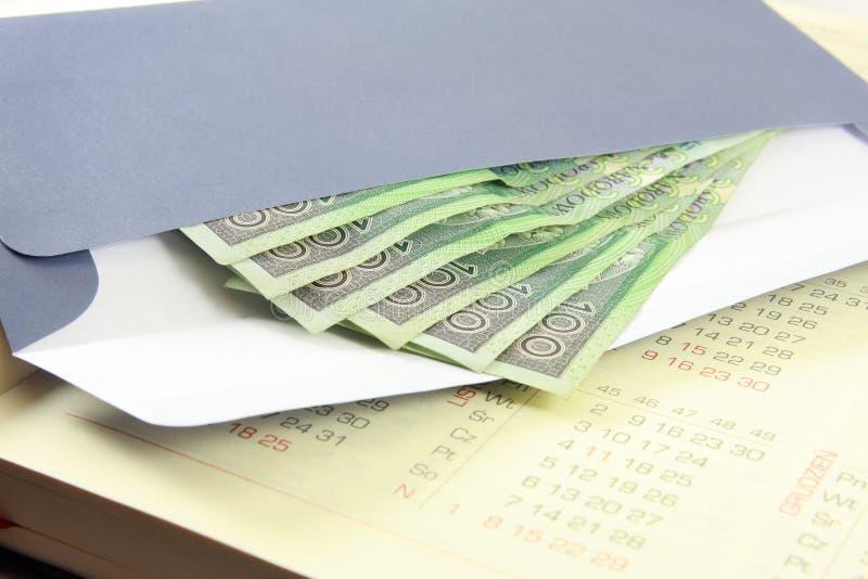 Download Envelope with money stock image. Image of envelope, calendar - 9176067