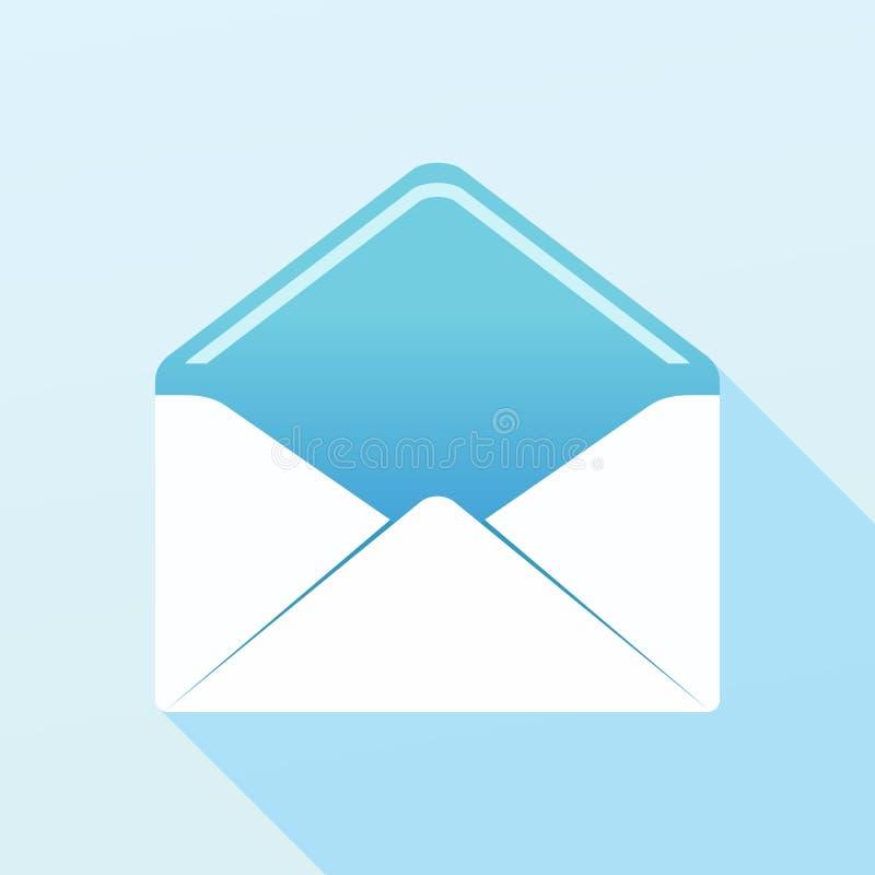 Envelope no azul ilustração royalty free