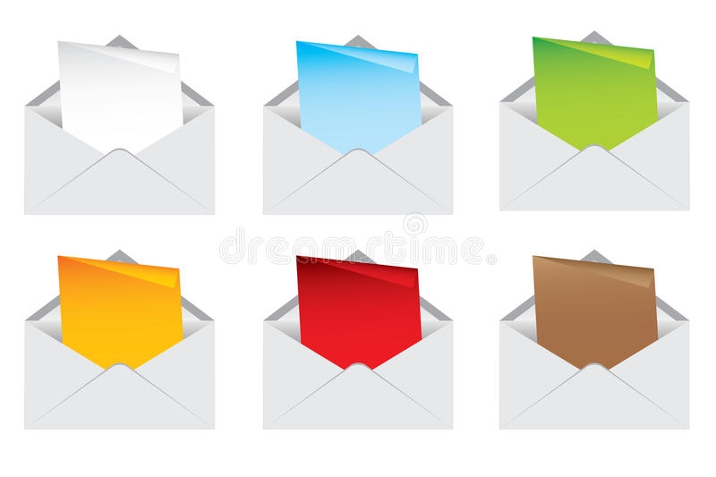 Download Envelope and note color stock illustration. Image of human - 33426534