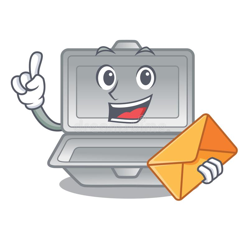 With envelope open styrofoam isolated with the mascot. Vector illustration royalty free illustration