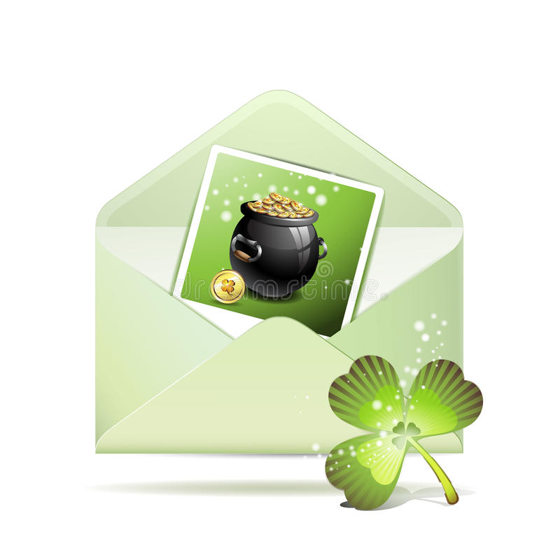 Download Envelope with photo stock vector. Image of luster, message - 18255504