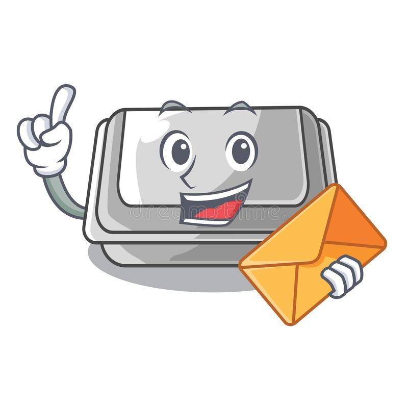 With envelope plastic box in the mascot shape. Vector illustration vector illustration