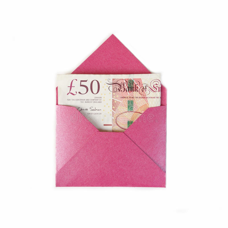 Download Envelope with 50 pounds stock image. Image of notes, invest - 45240153