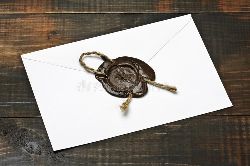 Envelope with the press stock image