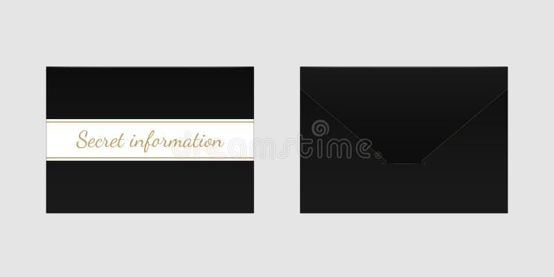 Envelope preto decorativo Zombaria do vetor acima ilustração royalty free